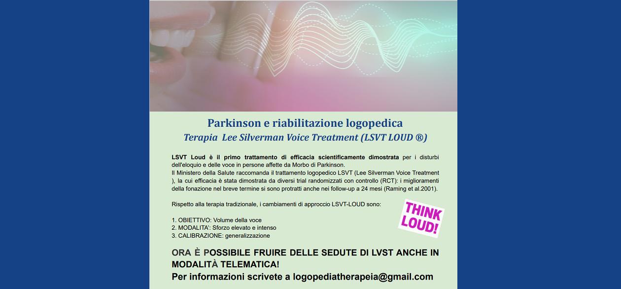 Trattamento della voce nella Malattia di Parkinson